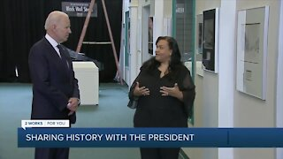 President Biden tours Greenwood Cultural Center