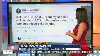 U.S. Economy added 2 million jobs in 2017