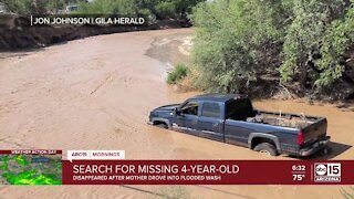 4-year-old girl missing after being swept away in flash flood near Safford, officials say