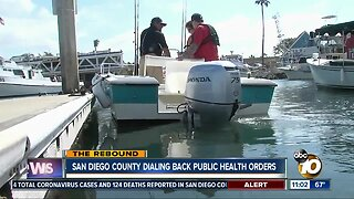 San Diego County dialing back public health orders