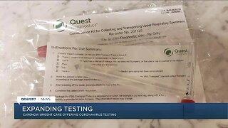 CareNow Urgent Care offering Coronavirus testing