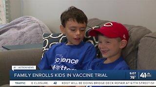 Family enrolls kids in vaccine trial