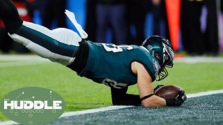Catch or NO Catch!? Tight End Zach Ertz's Super Bowl Touchdown Sparks Controversy -The Huddle