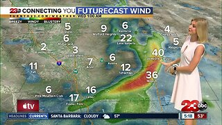 Winds increase Tuesday afternoon in the Kern County mountains and desert