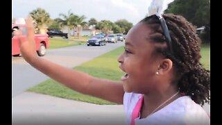 Vero Beach girl gets surprise birthday parade celebration