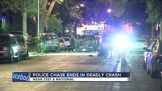 Milwaukee Police: 1 dead, 2 injured in overnight chase, crash