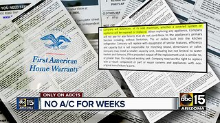 First American Home Warranty delays leaves Valley families trying to stay cool