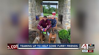 Teaming up to help some furry friends