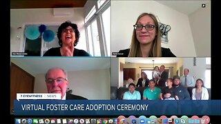 Foster care adoption granted virtually