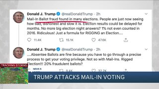 Despite his claims, expert says President Donald Trump would likely benefit from mail-in voting