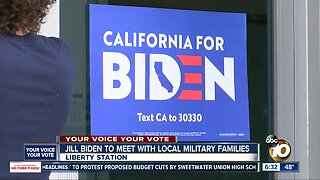Jill Biden meeting with San Diego military families on Super Tuesday