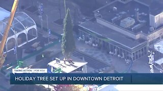 Detroit's annual Christmas tree arrives at Campus Martius