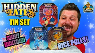 Hidden Fates Tin Set #3 | Shiny Hunting | Pokemon Cards Opening