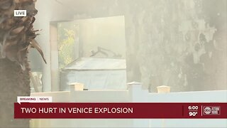 Two people injured after explosion in Venice