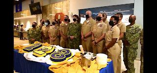Camp Lemonnier Sailors Celebrate CPO Birthday