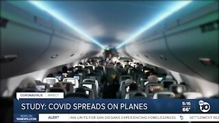 Studies show how COVID-19 spreads on airplanes