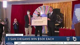 3 San Diego County residents win $50k each