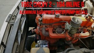 Aluminum Radiator And Water Pump Install