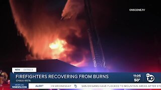 Four Chula Vista firefighters recovering from injuries