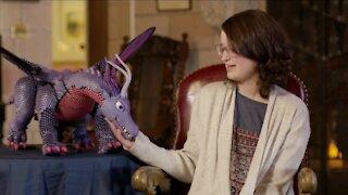 Girl battling cancer receives 'pet dragon' as Make-A-Wish