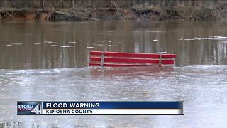 Flood Warning continues in Kenosha County