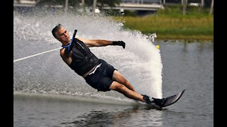 Water skiing at 15 off & 32mph