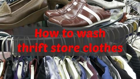 How to wash thrift store clothes