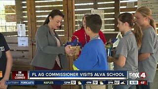 Florida Agricultural Commissioner visits Alva school