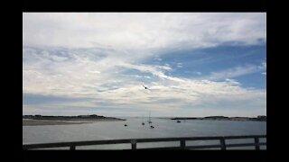 RAF low flying over Bridge
