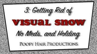 3 Getting rid of Visual Snow, No Meds and Holding. Poofy Hair Productions 4K