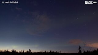Impressionante Aurora Boreal na Rússia
