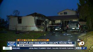 Couple, dog escape San Marcos house fire