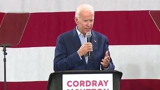Former Vice President Joe Biden in town to rally Ohio Democrats