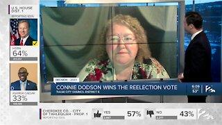 Connie Dodson wins reelection vote