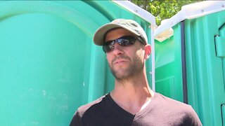 Portable toilets are in high demand as area events begin to pick up