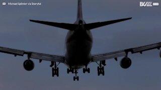 Venti forti causano momenti di panico durante l'atterraggio!