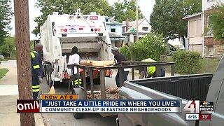 Community clean up in Eastside neighborhood