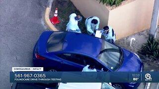 Free drive-through coronavirus testing site opens in West Palm Beach