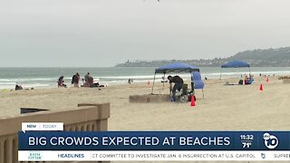 Big crowds expected at San Diego beaches