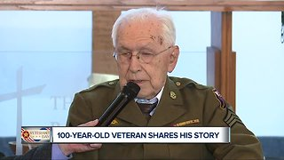 100-year-old veteran honored on Veterans Day