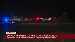 Warren police shoot burglary suspect at Madison Heights motel