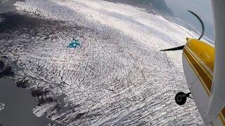 Knik River Glacier Alaska Flying