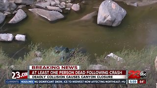 Deadly crash causes canyon closure