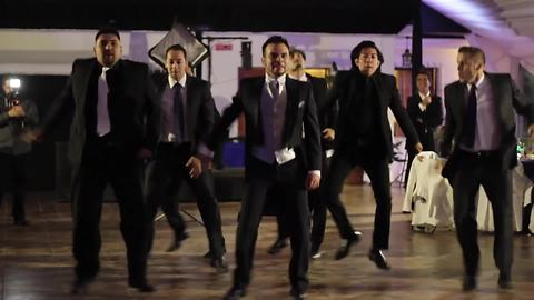 Groomsmen Surprise Bride With Detailed NSYNC Group Dance
