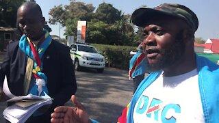WRAP - Zuma hosting 'illegitimate' DRC President Kabila - DRC protesters (HoF)