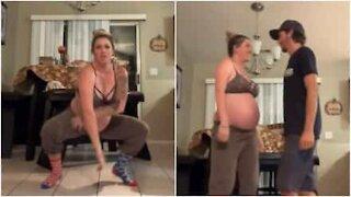Futura mamma danza scatenata