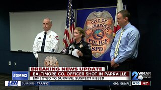 Balt. Co. Ofc expected to survive after shooting in Parkville