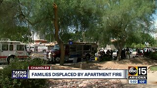 Families displaced by apartment fire