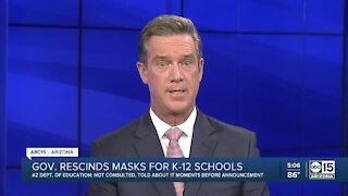 Ducey rescinds masks for K-12 schools