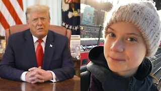 Greta Thunberg Totally Roasted Trump As He Left The White House For The Last Time